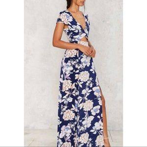 Nasty Gal Need a Trim Floral Maxi Dress